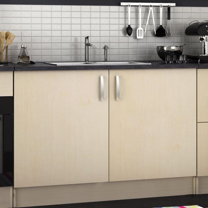 paprika meuble de cuisine bas de 100 cm 2 portes achat vente l ments haut et bas bas 100cm. Black Bedroom Furniture Sets. Home Design Ideas