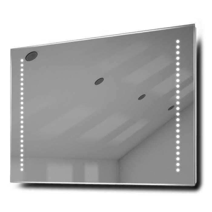 Miroir de salle de bain beatrix piles clairage del avec for Vendeur salle de bain