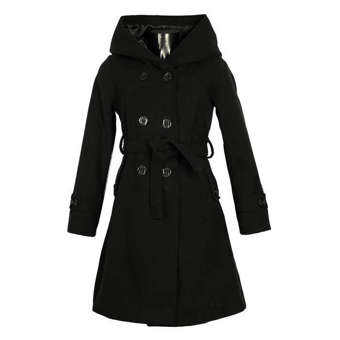 manteau femme laine mbn0070 grand col capuche beige achat vente manteau caban cdiscount. Black Bedroom Furniture Sets. Home Design Ideas