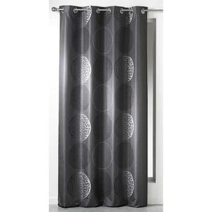 rideau noir et blanc achat vente rideau noir et blanc pas cher cdiscount. Black Bedroom Furniture Sets. Home Design Ideas