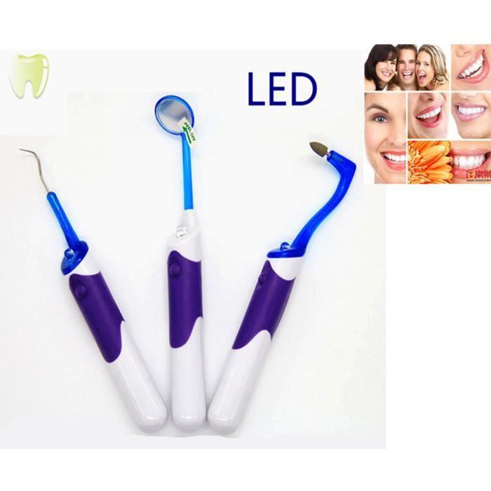 De marque kit miroir d 39 inspection dentaire avec lampe led for Miroir dentaire