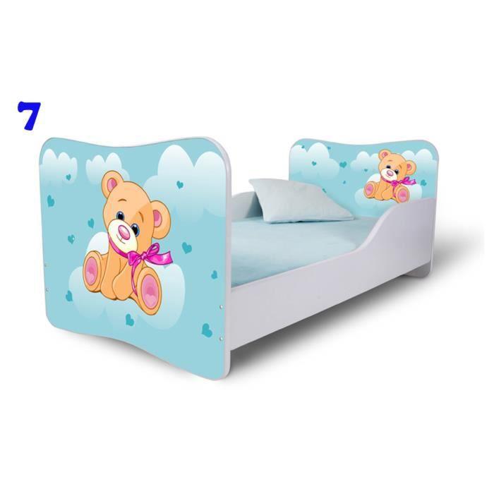 lit enfant 140 cm x 70 cm avec matelas lb7 achat vente lit b b lit enfant 140 cm x 70 cm a. Black Bedroom Furniture Sets. Home Design Ideas