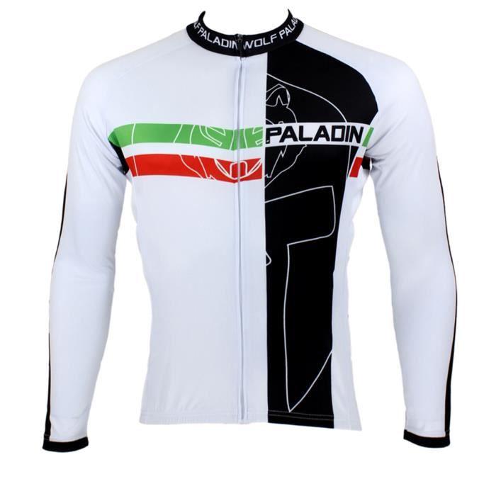 maillot manches longues de cyclisme hommes achat vente maillot polo de sport cdiscount. Black Bedroom Furniture Sets. Home Design Ideas