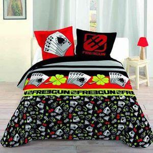 linge de lit freegun achat vente linge de lit freegun pas cher cdiscount. Black Bedroom Furniture Sets. Home Design Ideas