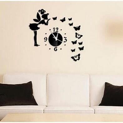 Sticker muraux miroir papillon fille jolie diy pour salon for Miroir mural fille