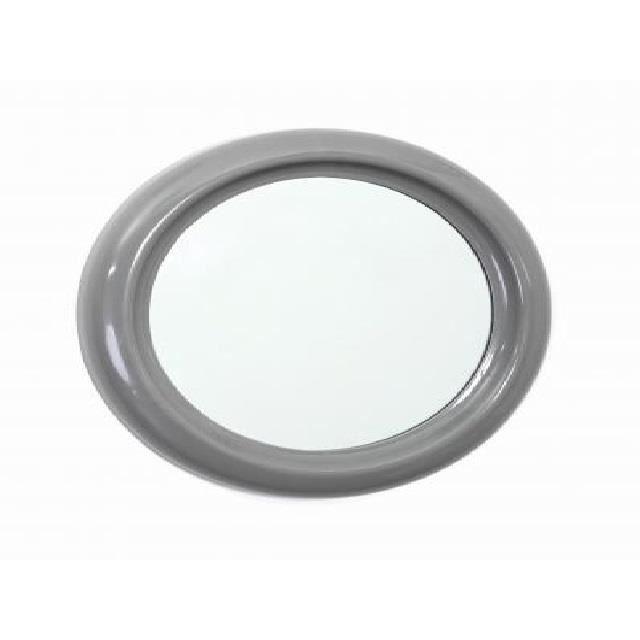 Miroir pvc rond 30cm gris achat vente miroir cdiscount for Miroir rond gris