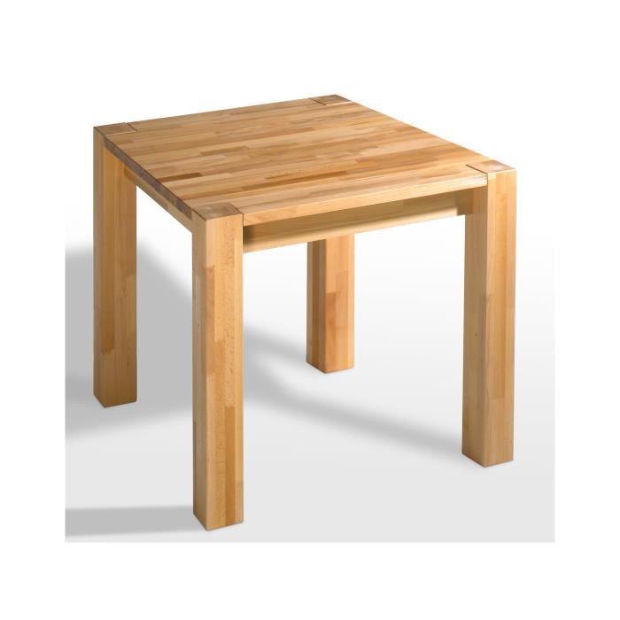 table buche 80x80 en h tre massif huil avec rallonges massivum achat vente table a manger. Black Bedroom Furniture Sets. Home Design Ideas