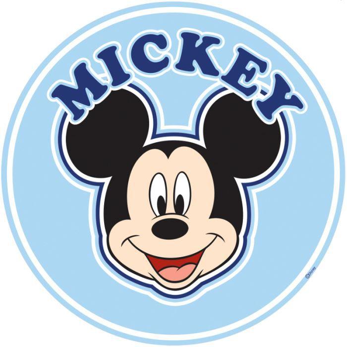 Stickers t te de lit mickey disney achat vente - Tete de mickey a decouper ...