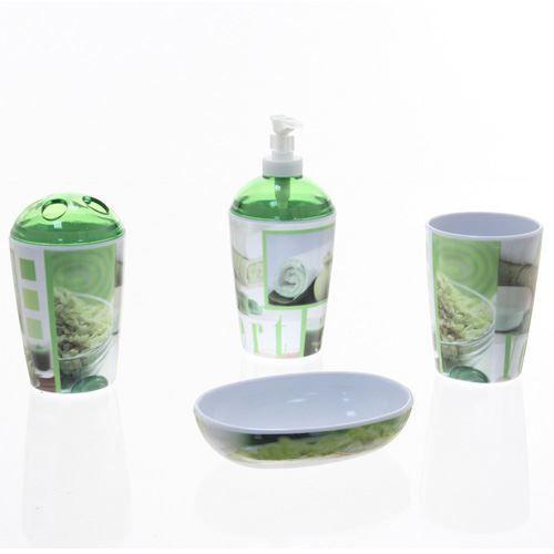 4 accessoires de salle de bain zen vert achat vente - Accessoire salle de bain zen ...