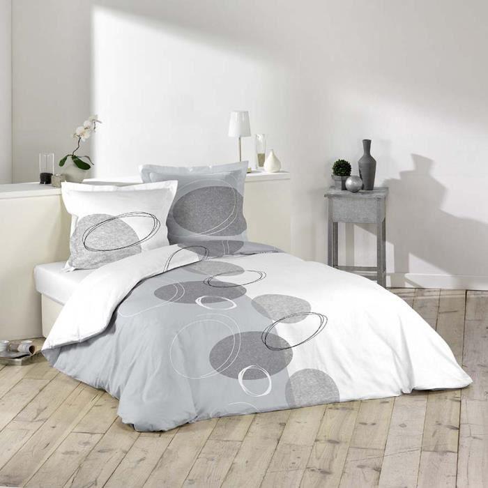 parure de couette 100 coton 57 fils 240x220 sp achat vente parure de couette cdiscount. Black Bedroom Furniture Sets. Home Design Ideas