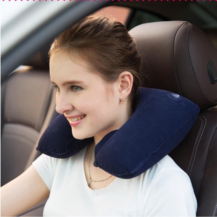 coussin gonflable cou oreiller voyage avion voiture repos dormir oreiller potable confortable. Black Bedroom Furniture Sets. Home Design Ideas