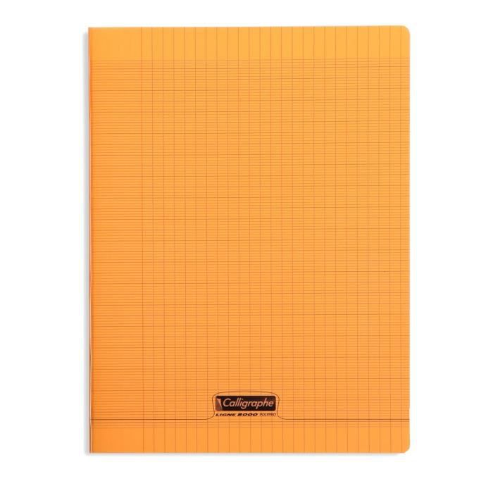 clairefontaine calligraphe cahier piqu polypro orange 24 x 32 cm 96 pages achat vente. Black Bedroom Furniture Sets. Home Design Ideas
