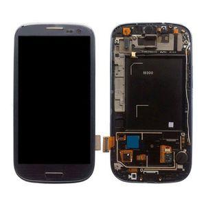 ECRAN DE TÉLÉPHONE Ecran LCD TACTILE sur chassis GALAXY S3 i9300 Bleu