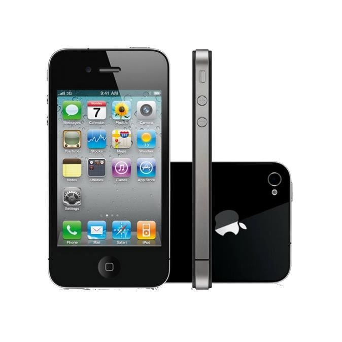iphone 4 32go noir achat smartphone pas cher avis et. Black Bedroom Furniture Sets. Home Design Ideas