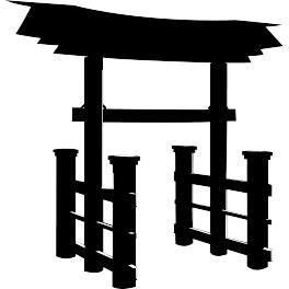 deco soon stickers portail japonais torii 1 achat vente stickers vinyl cdiscount. Black Bedroom Furniture Sets. Home Design Ideas