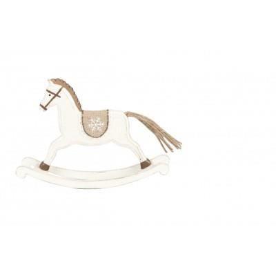 Petit cheval bascule en bois fa on ancien achat for Cheval a bascule exterieur