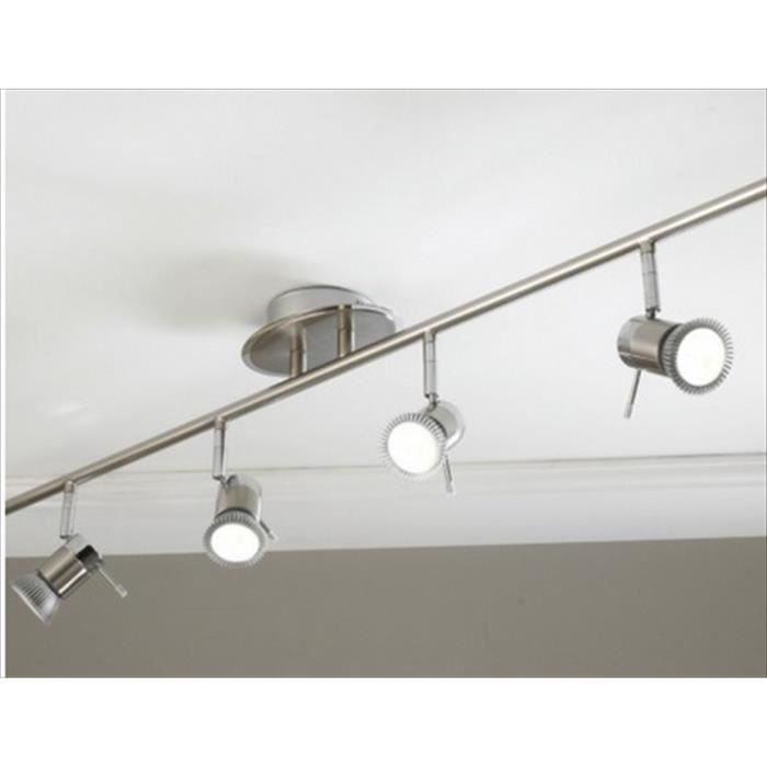 Plafonnier genoa gu10 evalu ip44 4 spot achat for Plafonnier spot salle de bain
