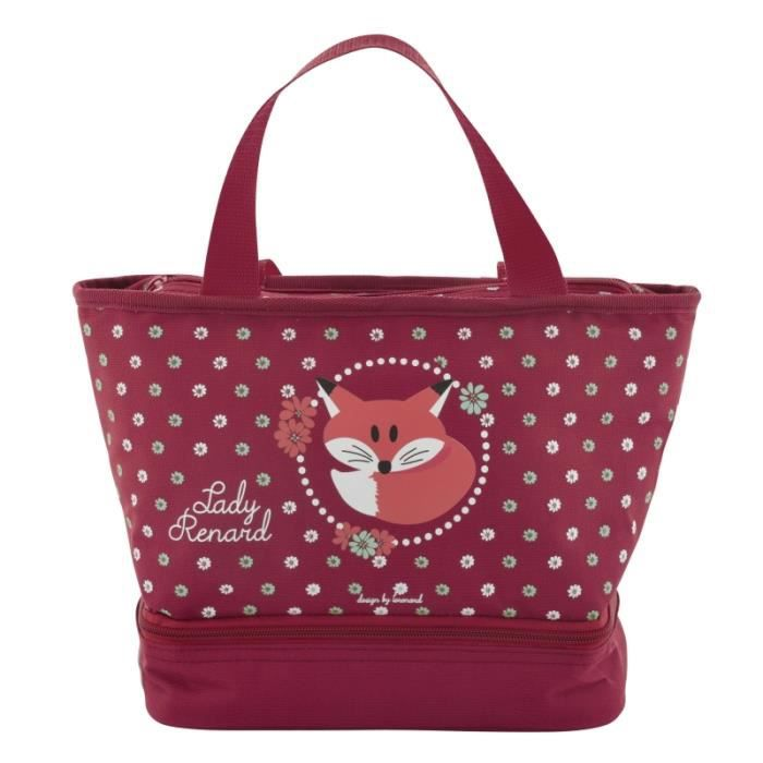 Sac lunch isotherme lady renard pour go ter d jeuner for Porte isotherme interieur