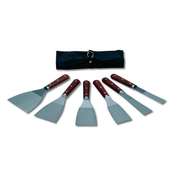 trousse de 6 couteaux enduire inox pro achat vente outils du peintre inox bois cdiscount. Black Bedroom Furniture Sets. Home Design Ideas