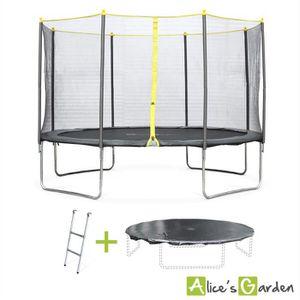 TRAMPOLINE Pack trampoline Ø 370cm Okapi, avec filet, échelle