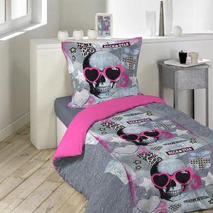 Parure de lit rose achat vente parure de lit rose pas for Parure de lit paris