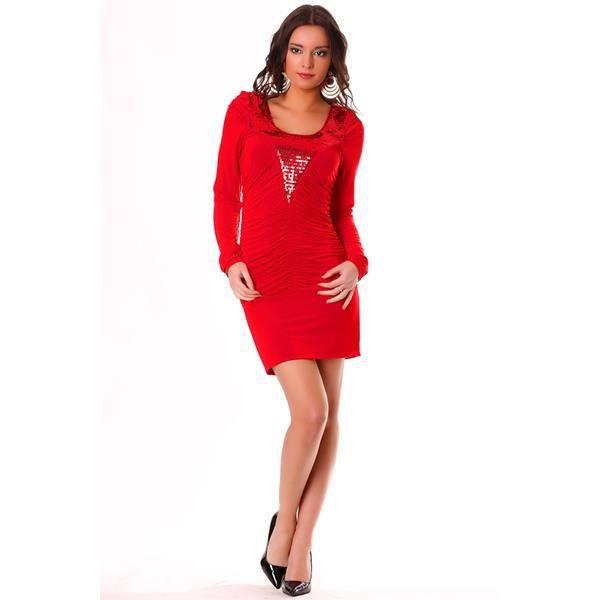 jolie robe de soir e rouge avec sequins rouge achat. Black Bedroom Furniture Sets. Home Design Ideas