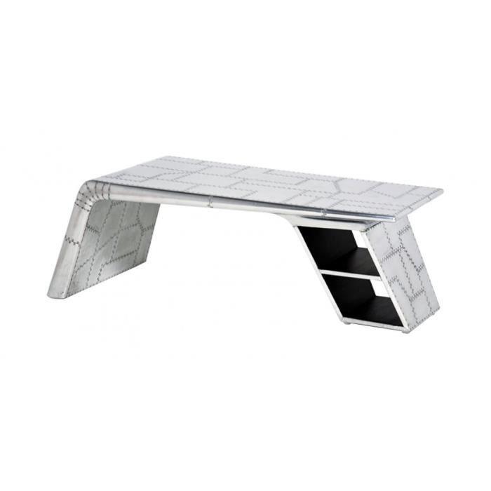 Table basse aile d 39 avion aviator aluminium achat - Table basse aluminium ...