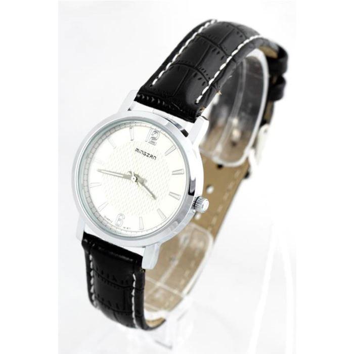 montre femme bracelet cuir noir 677 noir achat vente montre cdiscount. Black Bedroom Furniture Sets. Home Design Ideas