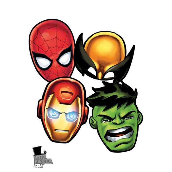 Preview - Masque super heros imprimer ...