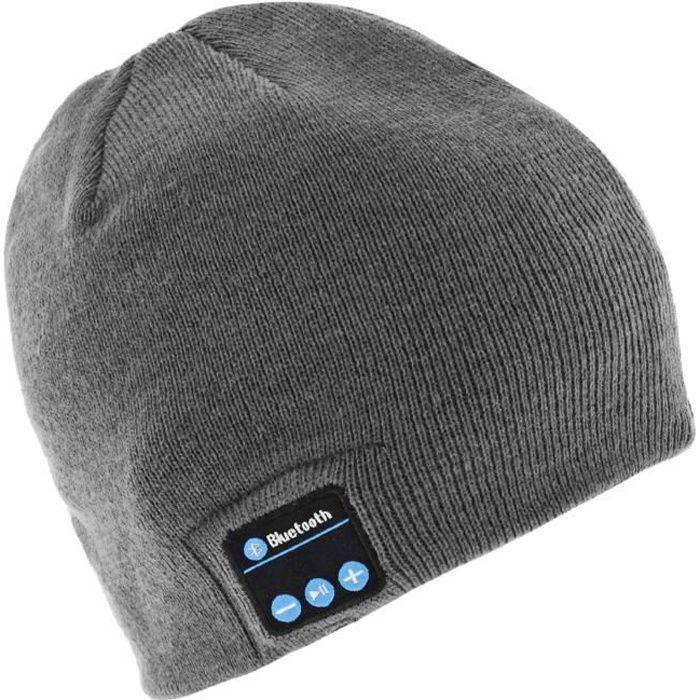 Kit piéton Bonnet Bluetooth Gris , Kit Mains Libre Sans Fil. \u2039\u203a