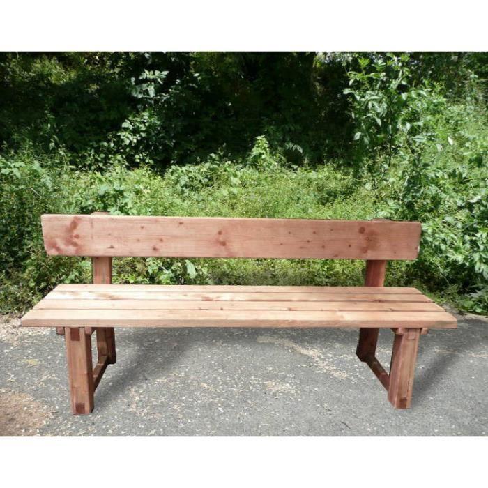 banc de jardin avec dossier en bois trait auto achat vente banc banc de jardin avec. Black Bedroom Furniture Sets. Home Design Ideas