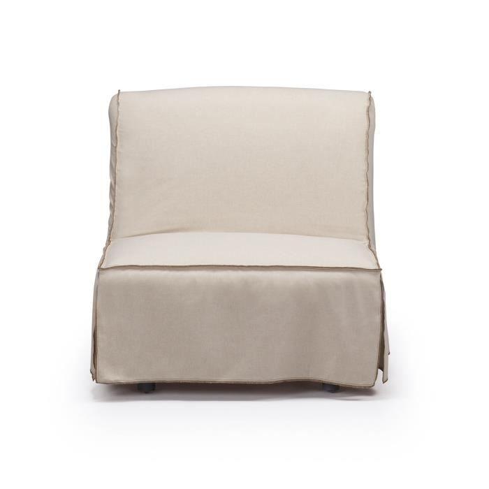 fauteuil convertible jessa beige achat vente fauteuil soldes d t cdiscount. Black Bedroom Furniture Sets. Home Design Ideas