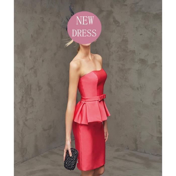 sexy robe robe soir erobe de soir e pas cher rouge achat vente robe de c r monie cdiscount. Black Bedroom Furniture Sets. Home Design Ideas