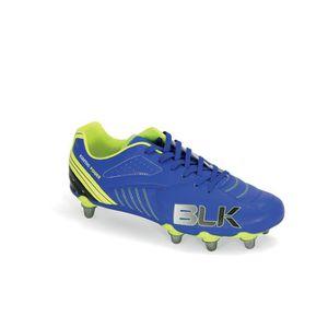 BLK Chaussures de Rugby X8 Intense Homme Bleu roi, jaune et noir