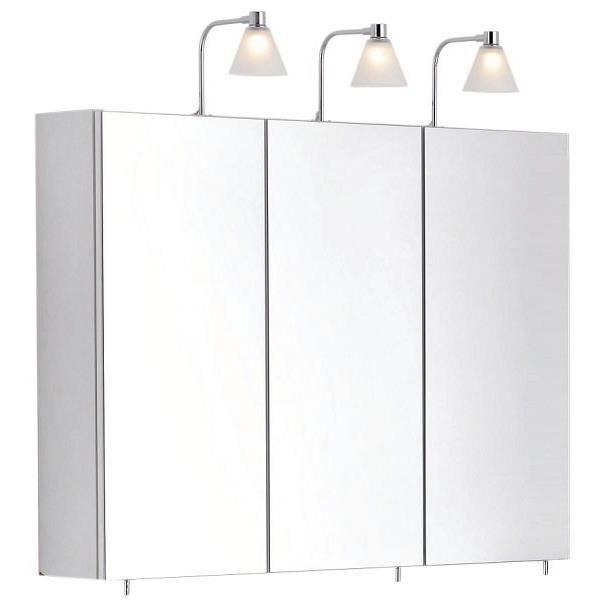 meuble haut salle de bains blanc 90 cm anconetti achat vente armoire de toilette meuble. Black Bedroom Furniture Sets. Home Design Ideas
