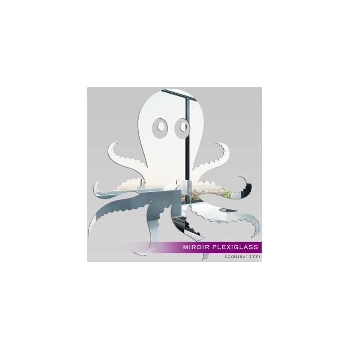 Miroir plexiglass acrylique poulpe ref mir 073 40x40 cm for Miroir 40x40