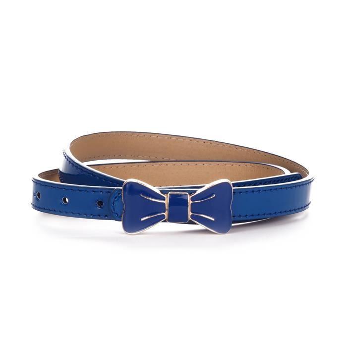 ceinture fine noeud papillon bleu roi achat vente ceinture et boucle 3700903411992 cdiscount. Black Bedroom Furniture Sets. Home Design Ideas
