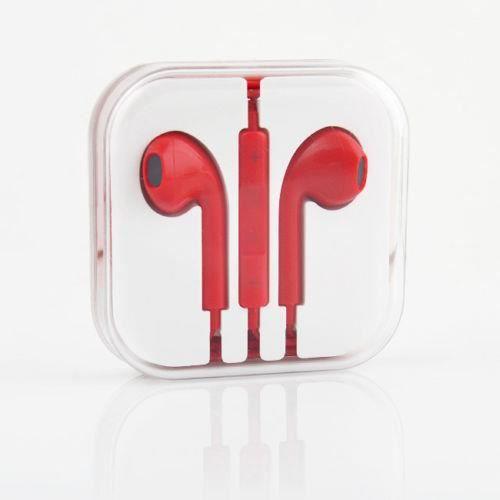 couteurs de remplacement pour iphone 5 rouge casque. Black Bedroom Furniture Sets. Home Design Ideas