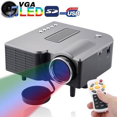 Vidéoprojecteur Mini-projecteur LED 320x240 pixels (USB-SD-VGA-AV)