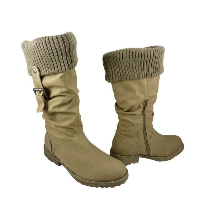 Bottes chaussettes Taupe