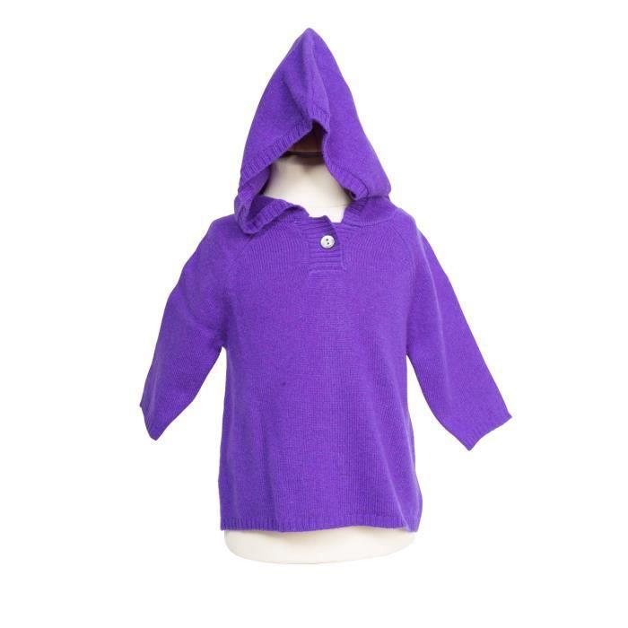 Pull cachemire enfant nobour violet noir achat vente for Pull cachemire enfant