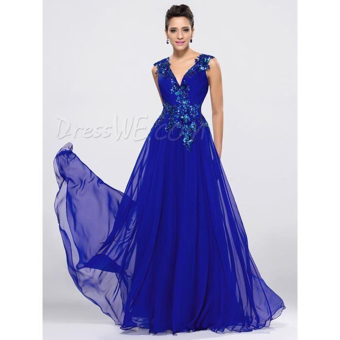 robe de mariage bleu roi - Robe Bleu Electrique Mariage