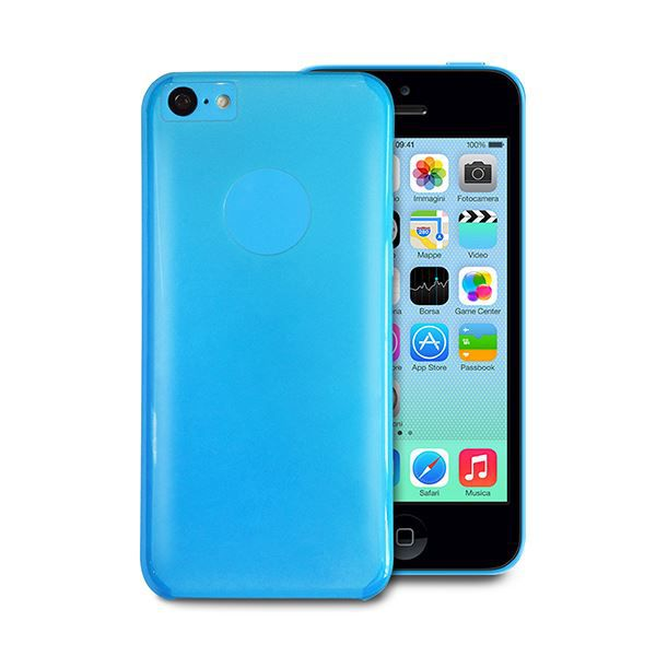 coque apple iphone 5c crystal bleue puro achat coque. Black Bedroom Furniture Sets. Home Design Ideas