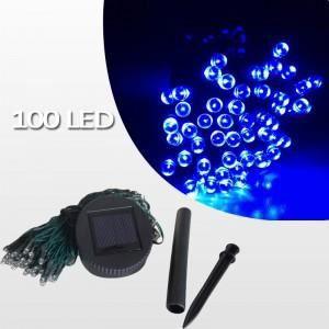guirlande solaire bleue 100 leds achat vente guirlande d 39 exterieure guirlande solaire bleue. Black Bedroom Furniture Sets. Home Design Ideas