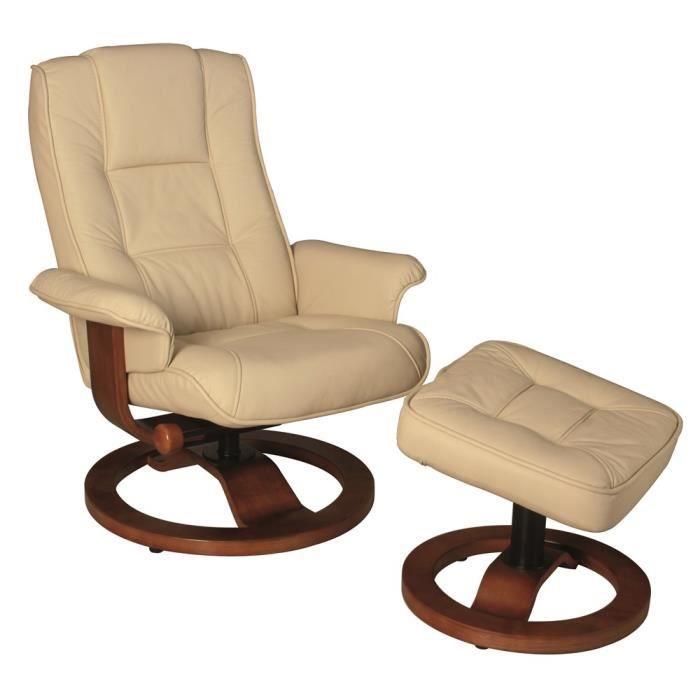 fauteuil relax swithome wallas ivoire Résultat Supérieur 5 Bon Marché Fauteuil Transat Cuir Image 2017 Hjr2
