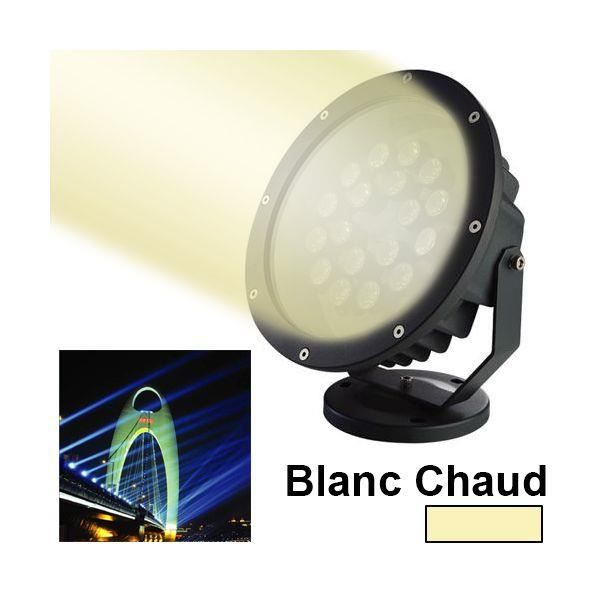 Projecteur led blanc chaud spot ext rieur clai achat for Projecteur led exterieur 500w