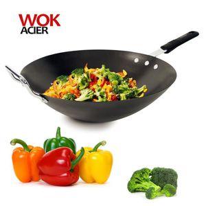 WOK Wok acier anti-adhérent induction Cuisy 33cm Noir