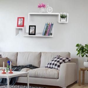 etagere murale noir laque achat vente etagere murale noir laque pas cher soldes cdiscount. Black Bedroom Furniture Sets. Home Design Ideas