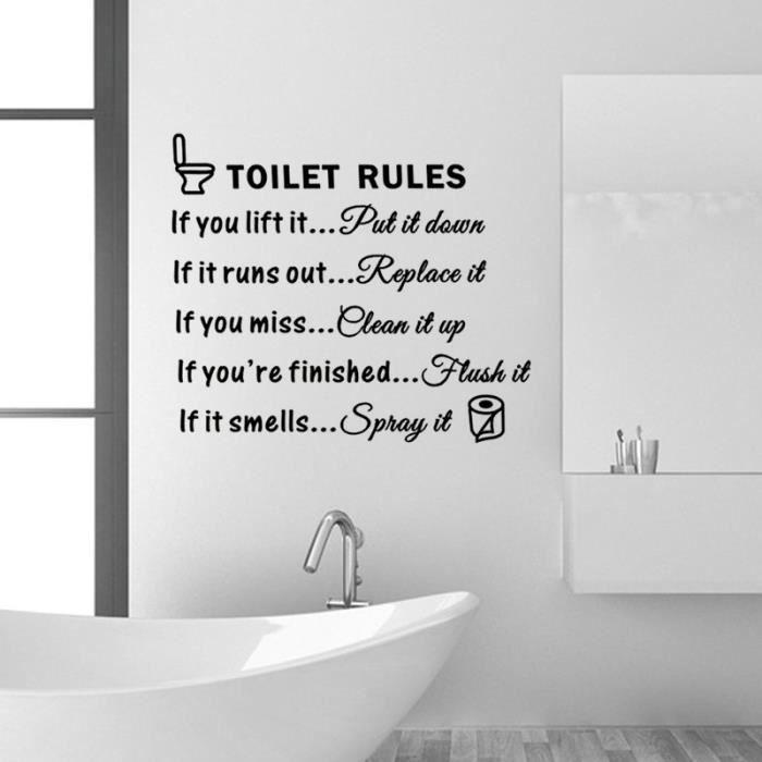 Cr ative wc stickers muraux pour toilettes cr atifs - La maison du stickers ...