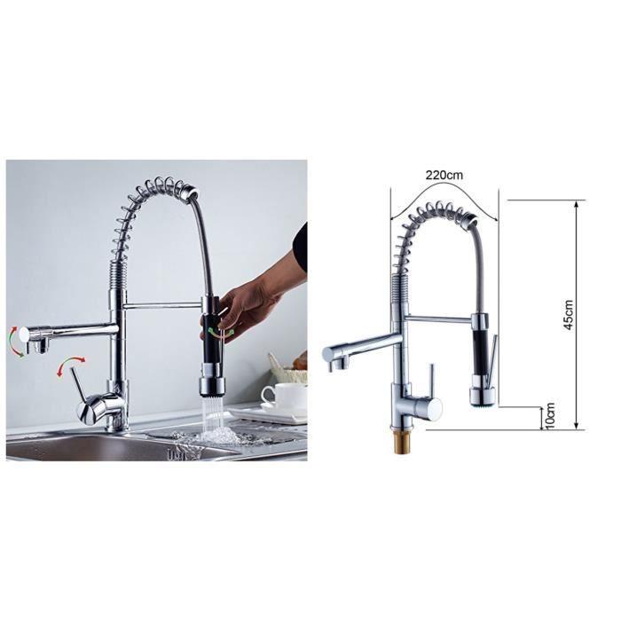 Mitigeur chrom vier eurostyle robinet de cuisine avec for Prix d un robinet de cuisine